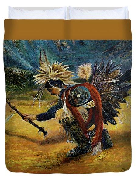 Native American Rain Dance Duvet Cover