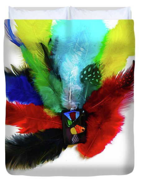 Native American Tribal Feathers Duvet Cover