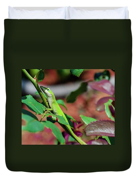 Native Anole Duvet Cover