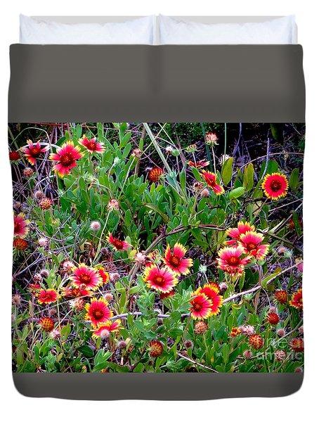 Native Blanket Flower Duvet Cover by Tim Townsend