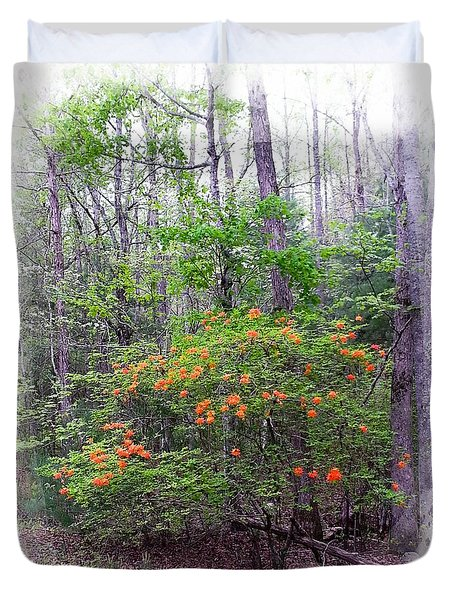 Native Flame Azalea Duvet Cover