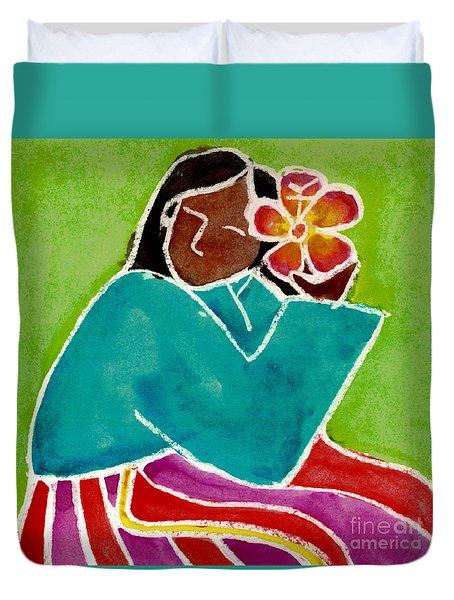 Native Girl Duvet Cover