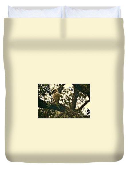 The Golden 'io Hawaiian Hawk Duvet Cover