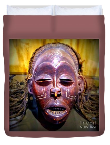 Native Mask Duvet Cover