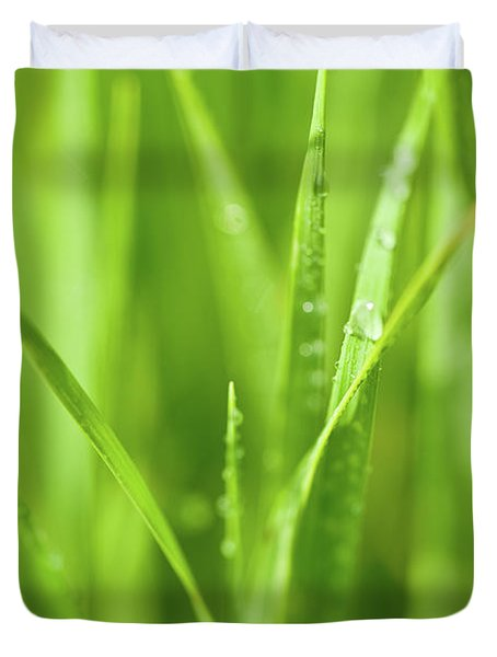 Native Prairie Grasses Duvet Cover by Steve Gadomski