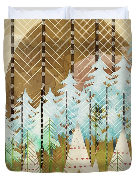 Native Summer Duvet Cover