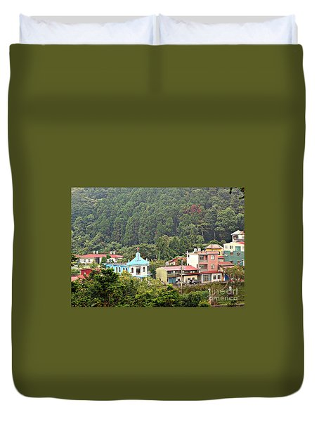Duvet Cover featuring the photograph Native Village In Taiwan by Yali Shi
