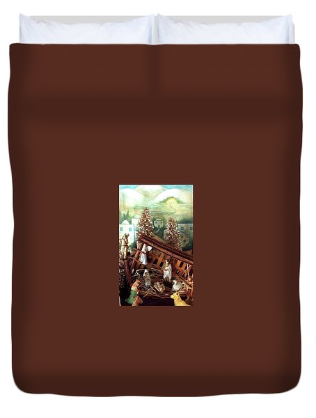 Nativity Of Our Lord Duvet Cover