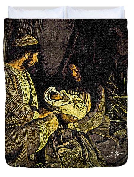 Nativity Scene Duvet Cover