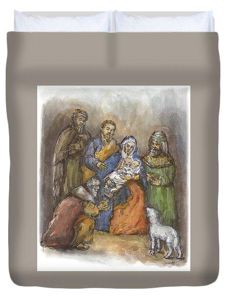 Nativity Duvet Cover by Walter Lynn Mosley