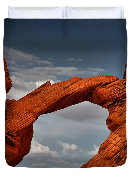 Natural Arch - Valley Of Fire - Nevada Duvet Cover by Christine Till