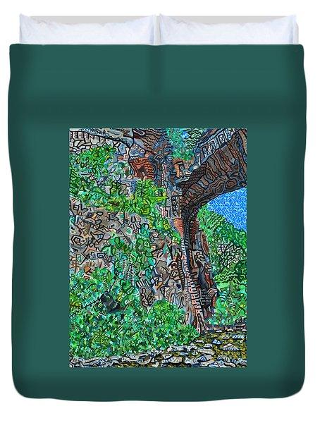 Natural Bridge Duvet Cover by Micah Mullen
