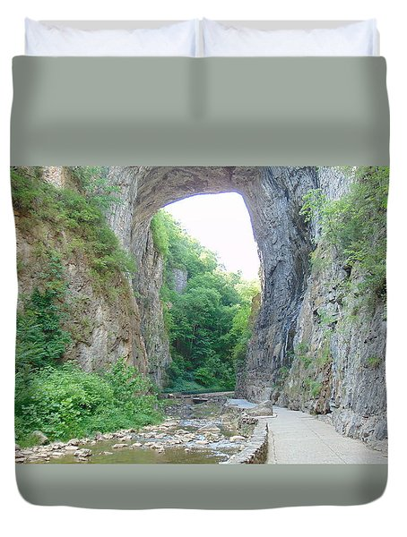 Natural Bridge Virginia Duvet Cover