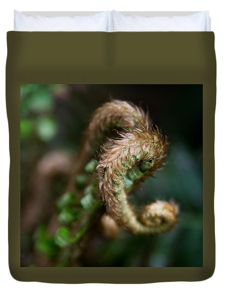 Duvet Cover featuring the photograph Natural Fiddlehead by Erin Kohlenberg