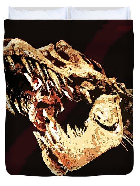 Natural History- T Rex Duvet Cover