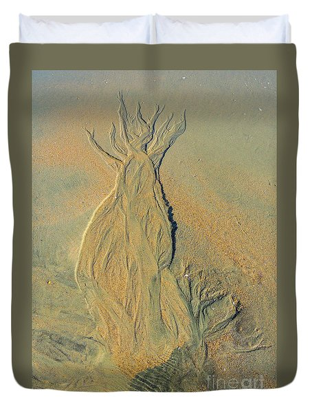 Duvet Cover featuring the photograph Natural Images In The Sand by Mim White