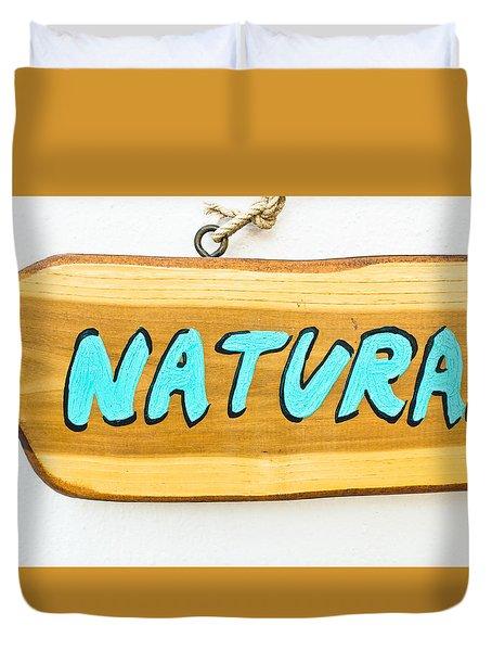 Natural Sign Duvet Cover