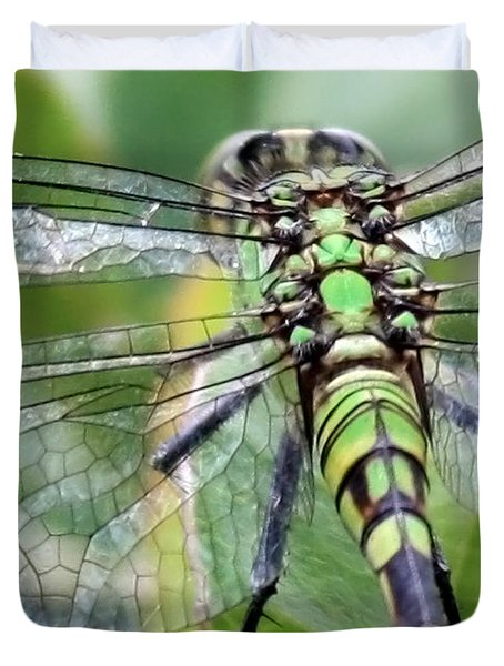 Natural Stained Glass Duvet Cover by Carol Groenen