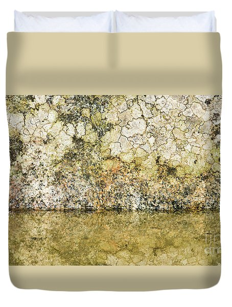 Duvet Cover featuring the photograph Natural Stone Background by Torbjorn Swenelius