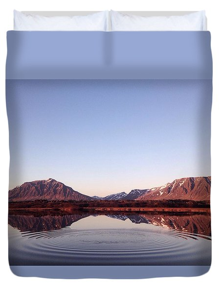 Natural Symmetry Duvet Cover by Happy Home Artistry