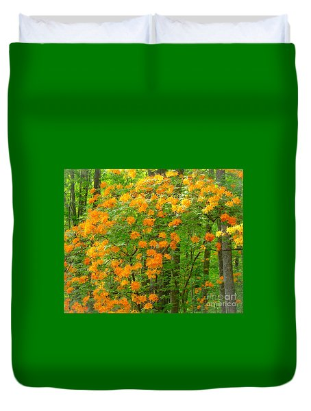 Duvet Cover featuring the photograph Natural Wild Azaleas  by Rand Herron