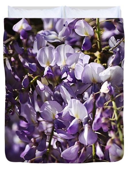 Natural Wisteria Bouquet Duvet Cover