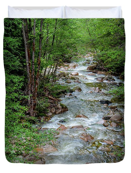 Naturally Pure Stream Backroad Discovery Duvet Cover