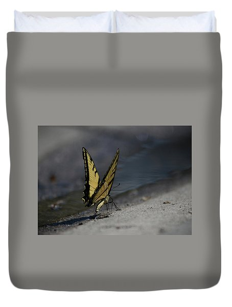 Nature And Man Reflects Duvet Cover