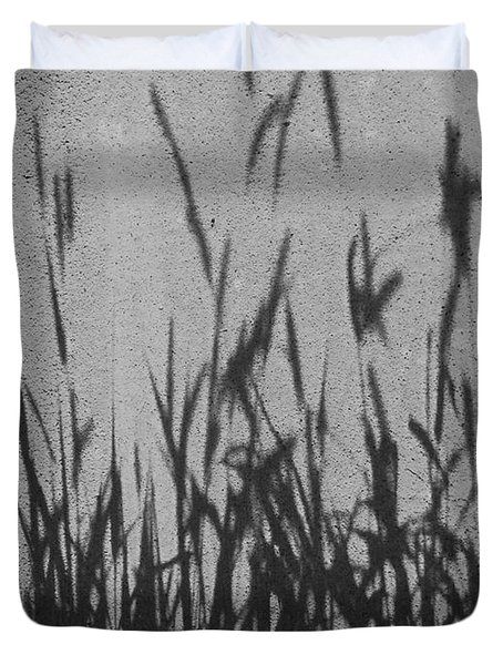 Duvet Cover featuring the photograph Nature As Shadow by Lenore Senior