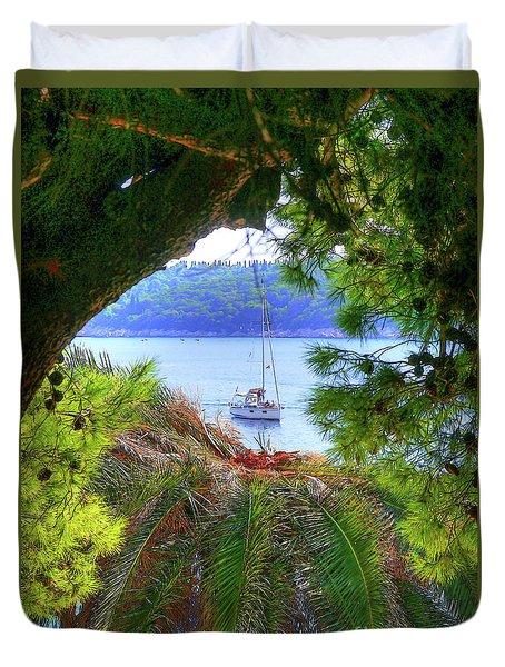 Nature Framed Boat Duvet Cover