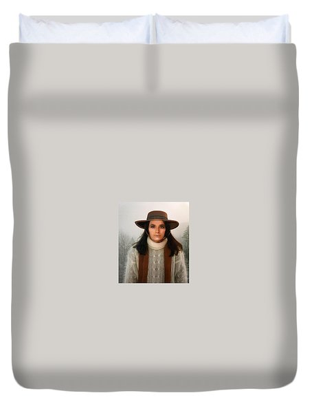Nature Harmony Self Portrait  Duvet Cover