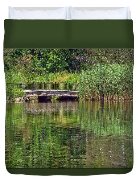 Nature In Green Duvet Cover