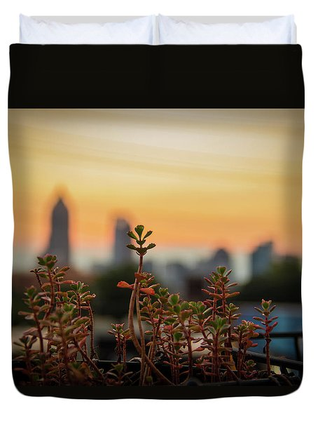 Nature In The City Duvet Cover