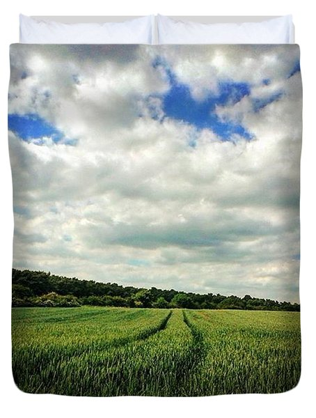 #nature #landscape #sky #sun #summer Duvet Cover