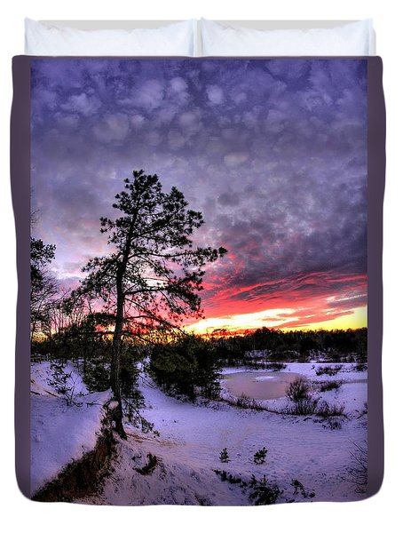 Nature Reserve Snowset Duvet Cover by John Loreaux