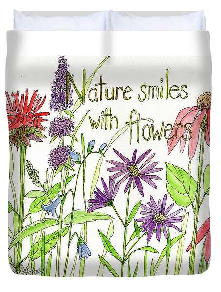 Nature Smile With Flowers Duvet Cover