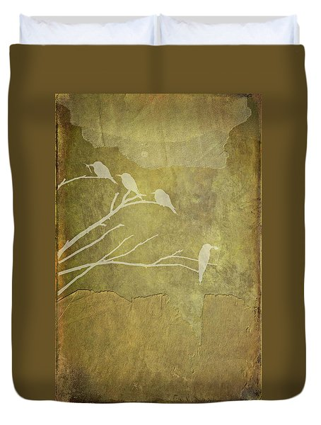 Nature Study In Gold  Duvet Cover