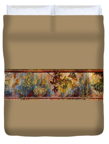 Duvet Cover featuring the photograph Nature Tapestry 1997 by Padre Art