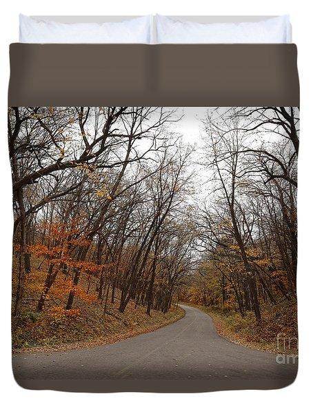 Nature Trail 3 Duvet Cover by Yumi Johnson