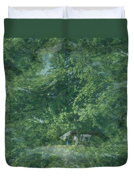 Nature Trees Fractal Duvet Cover
