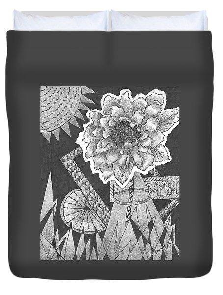 Naturemade And Manmade Shapes Duvet Cover by Quwatha Valentine