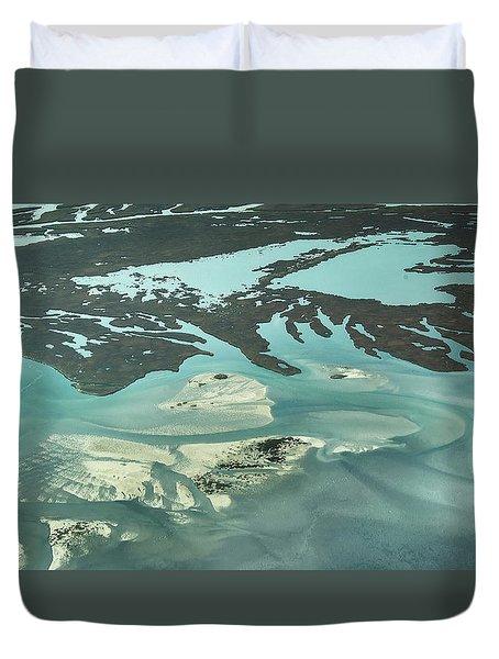 Natures Art On Barnegat Bay Duvet Cover