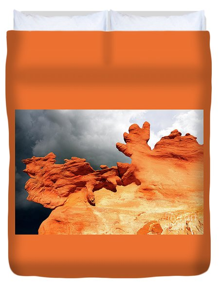Duvet Cover featuring the photograph Nature's Artistry Nevada 2 by Bob Christopher