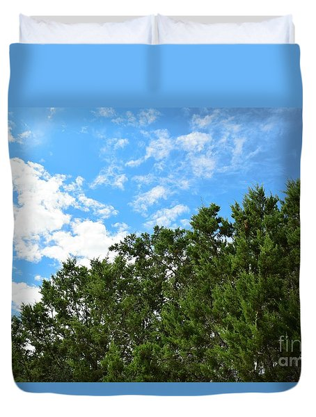 Duvet Cover featuring the photograph Nature's Beauty - Central Texas by Ray Shrewsberry