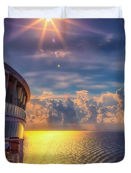 Natures Beauty At Sea Duvet Cover