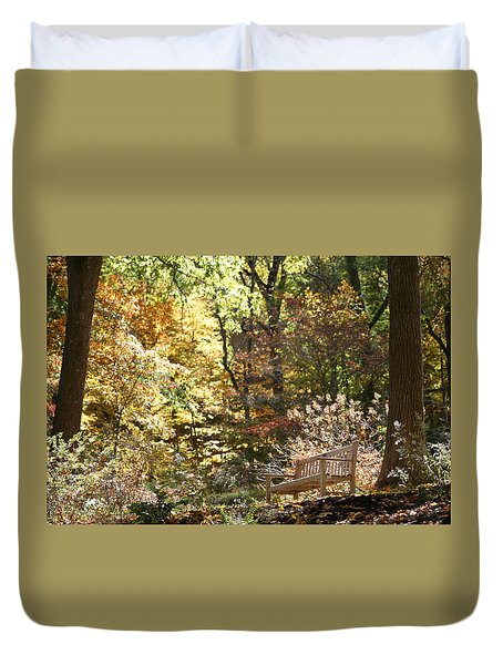 Duvet Cover featuring the photograph Nature's Best Seat by Living Color Photography Lorraine Lynch