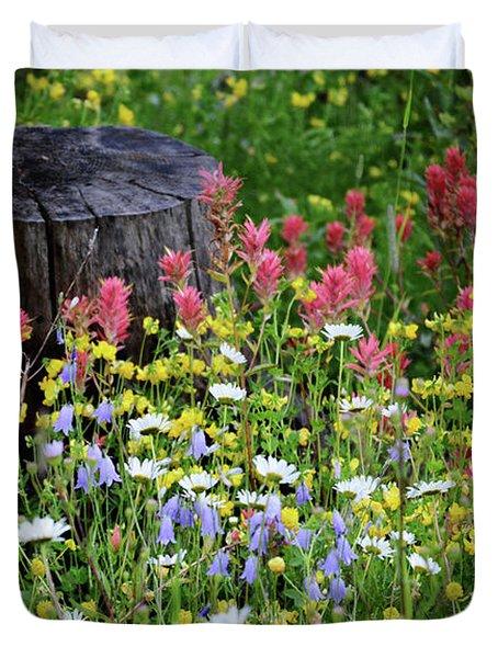Nature's Bouquet Duvet Cover