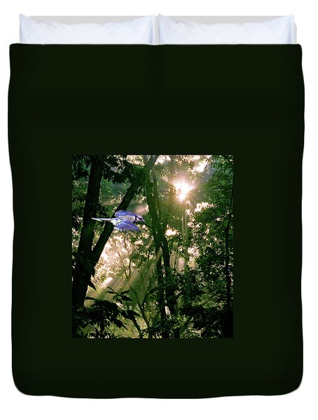 Duvet Cover featuring the photograph Nature's Cathedral by Marie Hicks