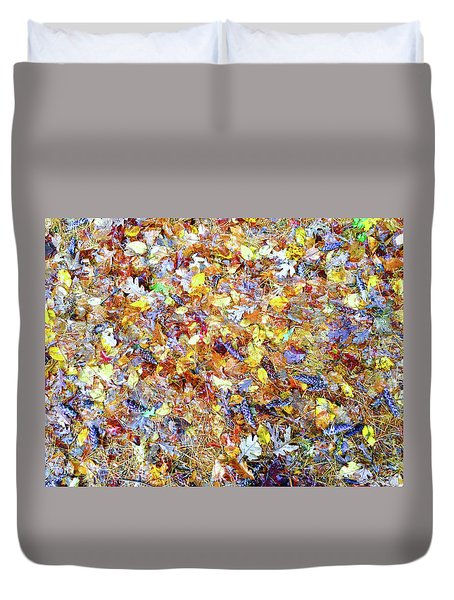 Natures Fall Falling Patterns Duvet Cover