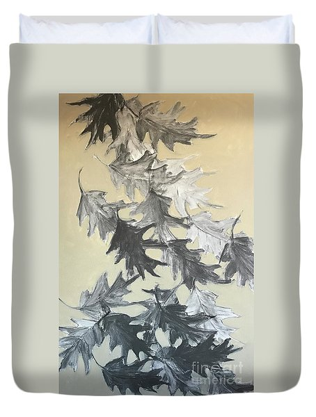Natures Fallen Trash Duvet Cover